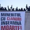 Környezetvédők tiltakoznak a ciános aranybányászat ellen Déván