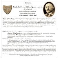 Meghívó Diendorfer Miksa újratemetésére