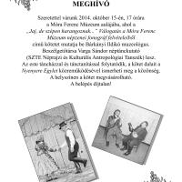 Viaszhengerekről könyvlapokra – Népzenei kötetbemutató a Móra-múzeumban