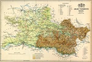 Arad vármegye terképe