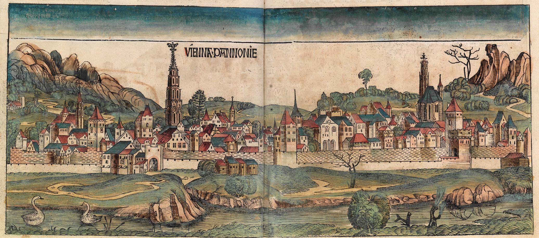 Vienna Pannonie – A Magyar Bécs – a Nürnbergi Krónikában (1493) kép