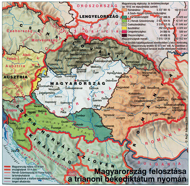 magyarország határai térkép A trianoni békediktátum története » Szögedöm.hu magyarország határai térkép